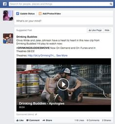 Drinking Buddies Facebook News Feed Ad Power Of Social Media, Social Media Trends, Magnolia Pictures, Facebook News, Drinking Buddies, Search People, New Clip, Picture Search, Influencer Marketing