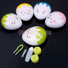 3D Lovely Cartoon Egg Design Soak Storage Contact Lens Box Case Holder Container -- BuyinCoins.com