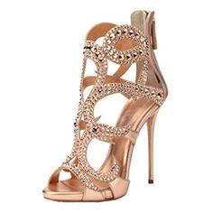 1ddac9955bb0 ENMAYER Femmes Gladiator Talon Plat Talon Ouvert Talon Bottines Chaussures  de Conception en Cuir Verni Sandales Retour Zip Fermeture Chaussures Plus  Size  ...