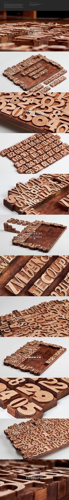 Wooden Letterpress perpetual Calendar? Wow wow wow wow!!!