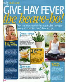 Treat your hay fever the natural way