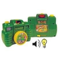 John Deere - Camera by Rc2. $12.21. From the Manufacturer                Child friendly, easy to use camera features 16 different sounds and rotating color wheel view finder. Press the shutter button for flash and sound activation. Adjustable lens features an audible click. Slide lever to show scenic barnyard adventures.                                    Product Description                John Deere -- CameraThis child-friendly, easy-to-use camera features 16 diff...