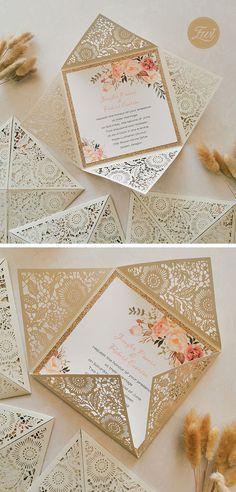 gorgeous classic laser cut wedding invitations #ewi #weddinginvitations