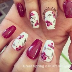 56 Elegant Spring Floral Nail Art Designs 56 Elegant Spring Floral Nail Art Designs,Nail designs The warm spring has arrived. Flowers will blossom, grass will germinate, small animals will be born, life will become. Spring Nail Colors, Spring Nail Art, Nail Designs Spring, Spring Nails, Nail Art Designs, Nail Designs Floral, Gel Manicure Designs, Nails Design, Cute Nails