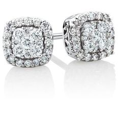 awesome Stud Earrings with 1/3 Carat TW of Diamonds in 10ct White Gold by Michael Hill
