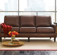 Highlife Sofa Shown In Chiswick Mocha Leather Check Out Two Seater Thomasville Furniture