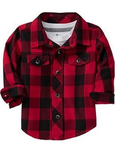 Plaid Shirts for Baby | Old Navy #famphotos