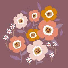 in bloom - flower illustration by Laurence Lavallée aka Flo Pattern Art, My Arts, Bloom, Illustration, Artist, Flowers, Artists, Illustrations, Royal Icing Flowers