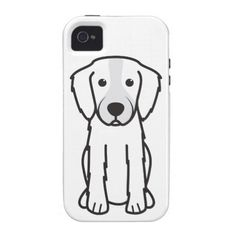 Irish Red and White Setter Dog Cartoon Case-Mate iPhone 4 Cover