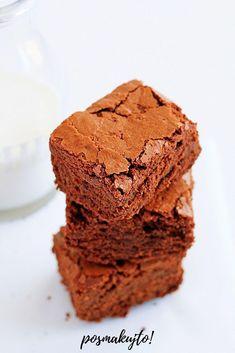 brownie przepis na ciasto mocno czekoladowe Food Cakes, Cake Recipes, Muffin, Good Food, Lunch Box, Food And Drink, Menu, Sweets, Cookies