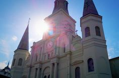 The Cathedral on Jackson Square New Orleans.  # #neworleans #nola #frenchquarter #jacksonsquare #cathedral #church #travel #stlouis #historic #building #architecture #sonyimages #sonyalpha #a58 by jasonvogelnwa