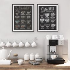 """""""Coffee Menu Prints Vintage Style Chalkboard Poster Cafe Wall Art Decor Canvas Painting Retro Wall Picture Coffee Shop Decoration"""" Menu Café, Coffee Wall Art, Chalkboard Poster, Cafe Wall, Vintage Wall Art, Vintage Cafe, Living Room Art, Home Decor Wall Art, Picture Wall"""