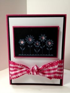 Karen's Kraft Room: Hello Blossoms with Big Gingham Bow - stampin up