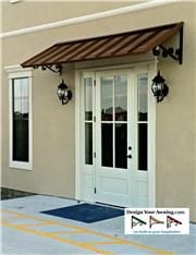 Project Gallery - Metal Canopy Design - Design Your Awning Metal Door Awning, Metal Awnings For Windows, Front Door Overhang, House Awnings, Front Door Awning, Porch Awning, Window Awnings, Exterior Front Doors, House Front Door
