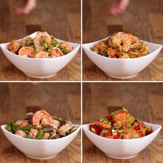 Shrimp Stir-Fry Four Ways paleo lunch recipes Fish Recipes, Seafood Recipes, Paleo Recipes, Asian Recipes, Cooking Recipes, Cooking Ideas, Fried Shrimp Recipes, Prawn Recipes, Stir Fry Recipes