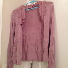 NWOT Lilac colored ruffle sweater New with out tags sweater good condition wrinkled. Ann Taylor Sweaters