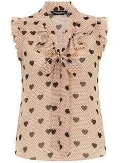Dorothy Perkins Blush heart ruffle front top