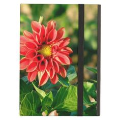 Coral Dahliah Flower Cover For iPad Air