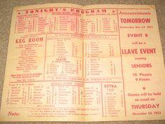 Manila Philippines Jai Alai Program November 24 1953 | eBay