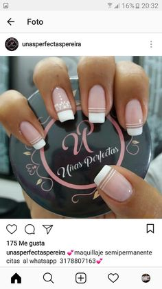 Love Nails, How To Do Nails, Pretty Nails, French Nail Art, French Tip Nails, Different Types Of Nails, Toe Nail Designs, Nail Decorations, Stylish Nails