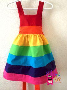 Rainbow dressbrightParty dressDressbirthday by StitchItUpBoutique, $47.00