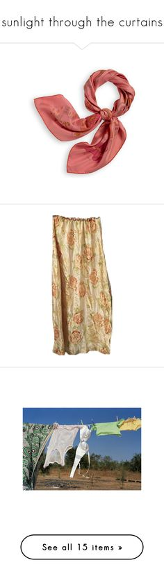 """""""sunlight through the curtains"""" by lestulipes ❤ liked on Polyvore featuring accessories, scarves, fillers, pure silk scarves, silk scarves, hermès, silk shawl, hermes scarves, pictures and photos"""