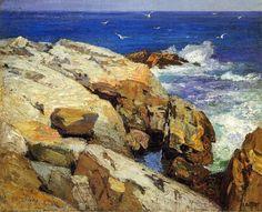 La côte du Maine, huile sur toile de Edward Henry Potthast (1879-1881, United States)