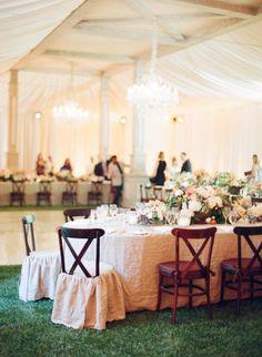#ballroom wedding #reception #tent #chandelier | Photography: elizabethmessina.com | Wedding Design: merrylbrownevents.com | Floral Design: mindyrice.com