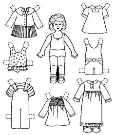 My Own Printable Paperdolls    I've made three paper dolls with outfits that you can print for a young daughter or young friend to play with. These dolls are for personal use only, and may not be published or sold.