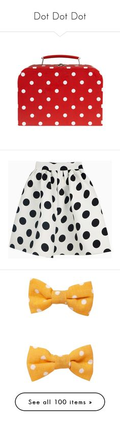 """""""Dot Dot Dot"""" by cinnamonwaffles ❤ liked on Polyvore featuring bags, red fillers, accessories, bolsos, filler, skirts, white polka dot skirt, skater skirt, flared skirt and polka dot skirt"""