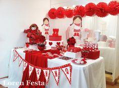 decoração de chá de cozinha vermelho - Pesquisa Google