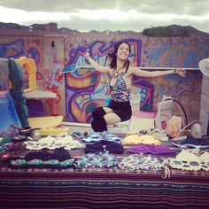flashback to a year ago vending at a gathering in Arizona! This is when I was really starting to develop my own style and flow with crocheting. It's beautiful to look back on my creative process! Also missing my dreads right now by frequencycollection