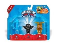 awesome Skylanders Trap Team: Triple Trap Pack: Air, Kaos, Earth - For Sale