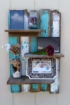 DIY Pallet Furniture Ideas - Simple Rustic Pallet Wall Shelf - Best Do It Yourself Projects Made With Wooden Pallets - Indoor and Outdoor, Bedroom, Living Room, Patio. Coffee Table, Couch, Dining Tables, Shelves, Racks and Benches http://diyjoy.com/diy-pallet-furniture-projects