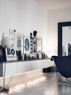 moderne Wandgestaltung im Wohnzimmer