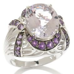 Victoria Wieck 3.88ct Pink and Purple ღAmethyst Swag Frame Ring at HSN.com.