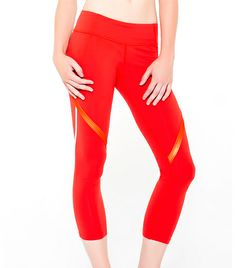 @Who What Wear - Splits59                  Nova Trailblazer Performance Capri ($98)  The wide waistband and sport lamé detailing on these leggings are so flattering you almost don't need to workout. We said almost.