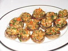 Lobster Stuffed Mushrooms (Lobster Recipe)----Amy Bethel, the reason for all the food posts, is explained on Fb lmbo