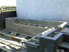 Garden seating in concrete (click for finished item with wooden seating)