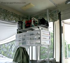Organizing your pop up camper can making packing for a camping trip a breeze. Here are our best tips for getting the most out of your camper's space. Camper Hacks, Camper Trailers, Travel Trailers, Travel Camper, Tent Camping Organization, Camping Storage, Camping Tips, Backpacking Meals, Ultralight Backpacking