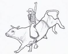 Free printable rodeo coloring pages