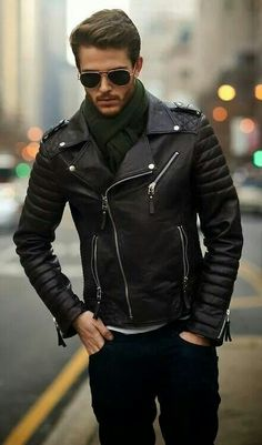 Jacket. Glasses. Men