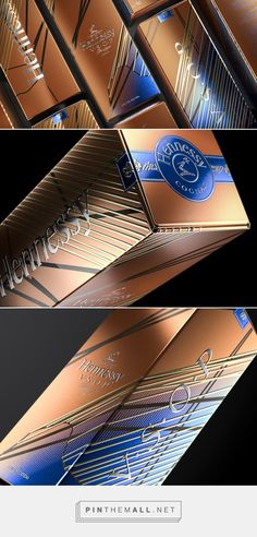 Hennessy VSOP Privilege Collection designed by Appartement 103 (France) - http://www.packagingoftheworld.com/2016/02/hennessy-vsop-privilege-collection.html