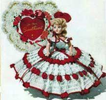 Free pattern.  Queen of Hearts Doll, Vintage Crochet Pattern c. 1951