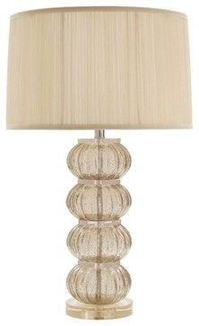 Arteriors Mya Smoke Glass/Acrylic Ring Lamp - contemporary - lamp shades - charlotte - The Classy Cottage