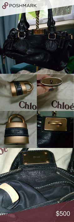 "Chloe Paddington Black Good condition  Comes with dustbag Approx size 13"" L x 8"" H 8"" handle drop Chloe Bags Shoulder Bags"
