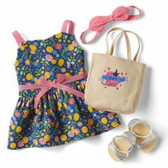This American Girl Fresh Lemons Market Outfit for dolls is perfect for exploring all the outdoor markets this spring. Cosas American Girl, All American Girl Dolls, American Girl Clothes, Barbie Plane, American Girl Outlet, Baby Alive Food, Gymnastics Outfits, Our Generation Dolls, Baby Doll Clothes