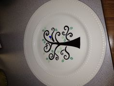 Fun with Sharpies and dollar store plates.