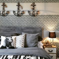 Monochome bedroom with stunning handpainted canvas, all created by Artspace  Interior Design Ltd | ARTSPACE: VARIOUS PROJECTS | Pinterest | Monochrome  ...