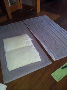 Use a shower curtain and tape to waterproof the inside of homemade dog beds. And you're the type who just … then possibly this is under-the-stairs canine house is the best Large Dog House, Build A Dog House, Crate Bed, Dog Crate, Dog House Inside, Diy Dog Bed, Dog Beds, Building A Dog Kennel, Smart Dog Toys